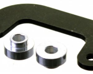 Compkart U Shaped Footrest Plate With Stepped Washers