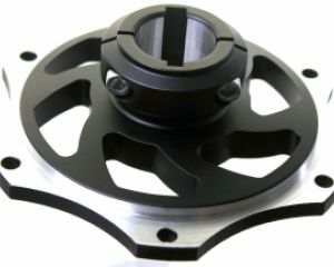 30mm Black Anodized Sprocket Carrier With 6mm & 8mm Keyway Slots
