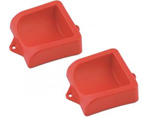 Plastic Heel Cup Pair Red